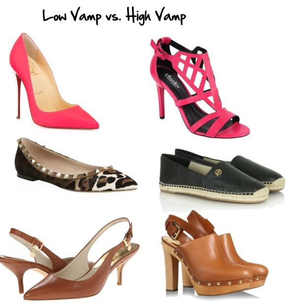 low vamp vs. high vamp shoes