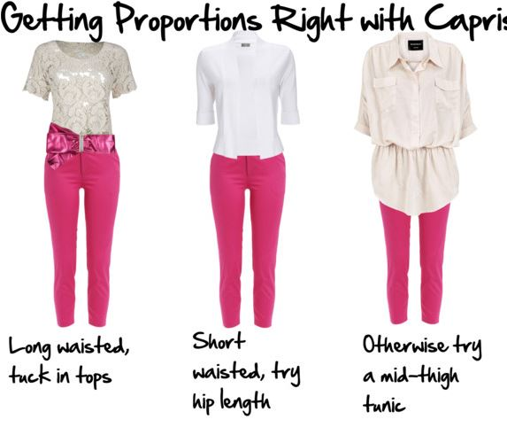 proportional dressing with capris