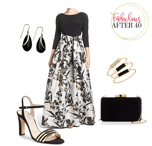 Ball Gown Floral Skirt - formal dresses for women over 40