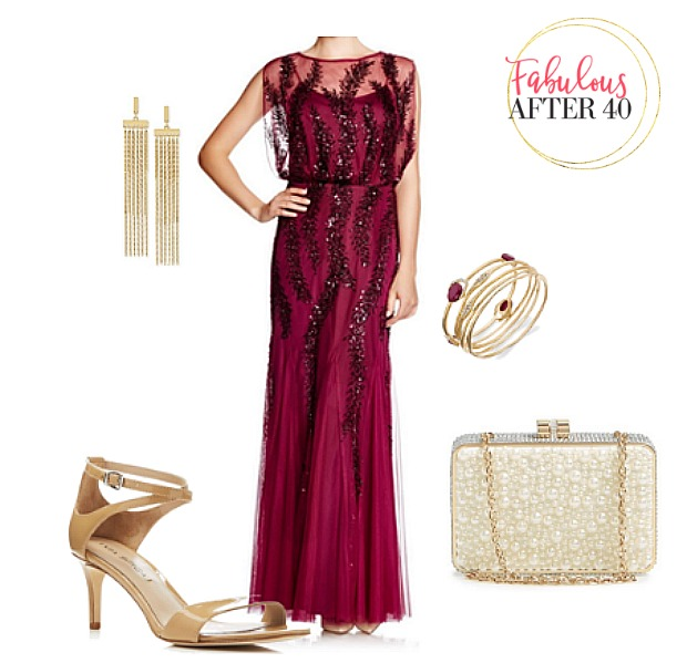 Ball Gown Red : Elegant dresses for women over 40