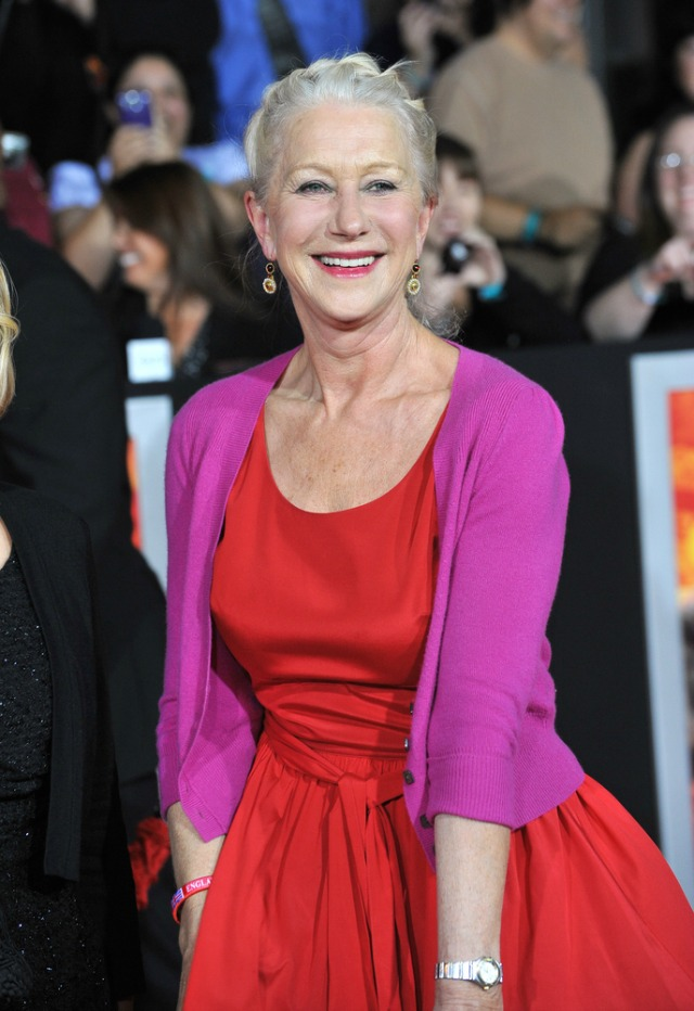 helen mirren color block