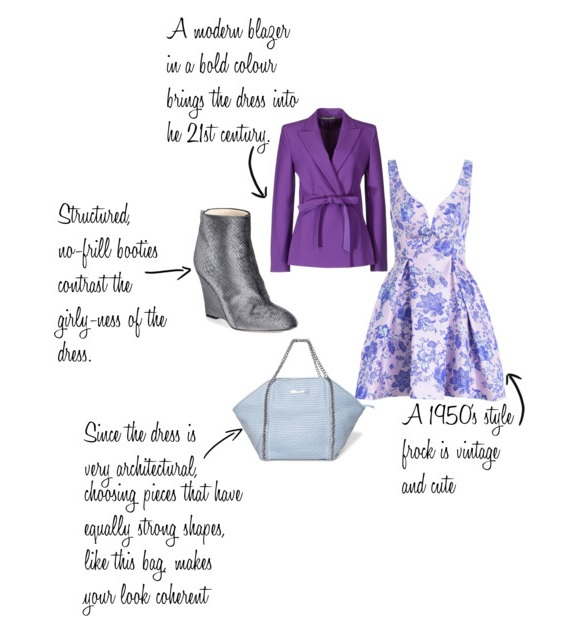 how to wear a purple viange dress after 40