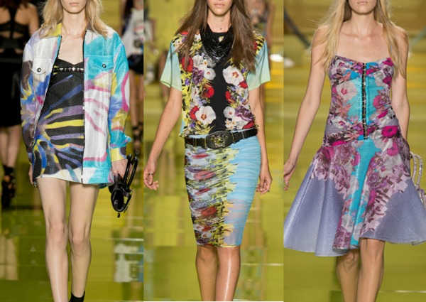 Painterly florals spring 2014 versace