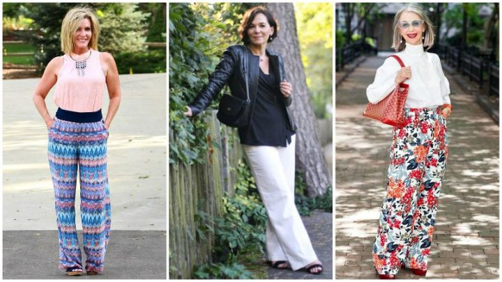 Over 40 and Fabulous in Wide Leg Pants