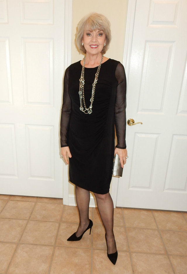 Susan After 60 Black Cocktail Dress