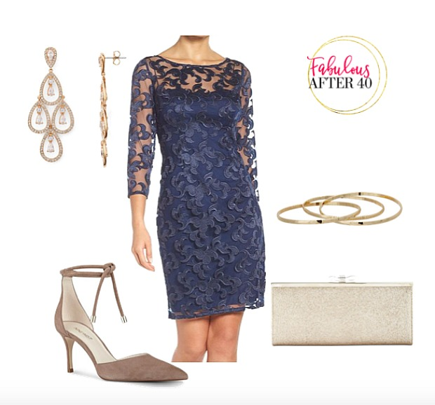 Winter Wedding   Navy Lace
