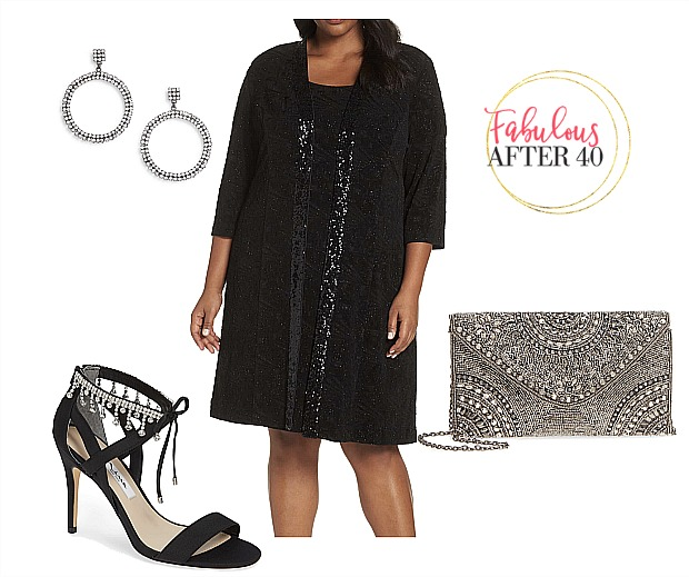 Plus size MOB - Dress Black
