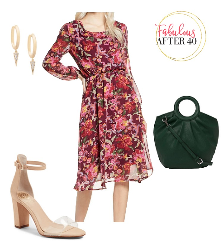 Fall Pantone - Red Floral Dress