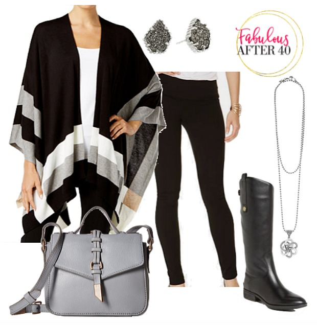 poncho with leggings