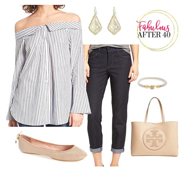 Capris - Off the shoulder Top
