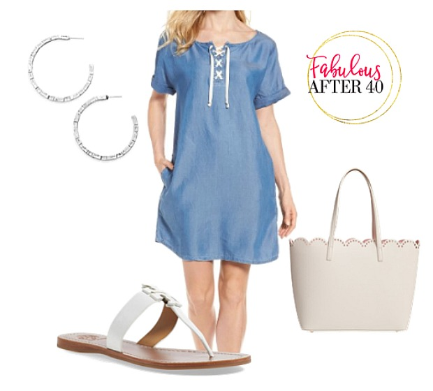 Linen - Lace up Dress