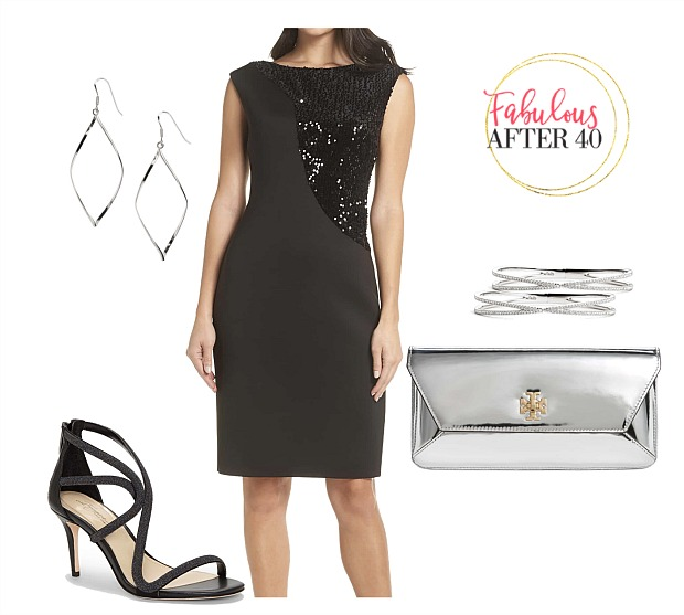 Little Black Dress with Sequins l styled by Fabulous After 40