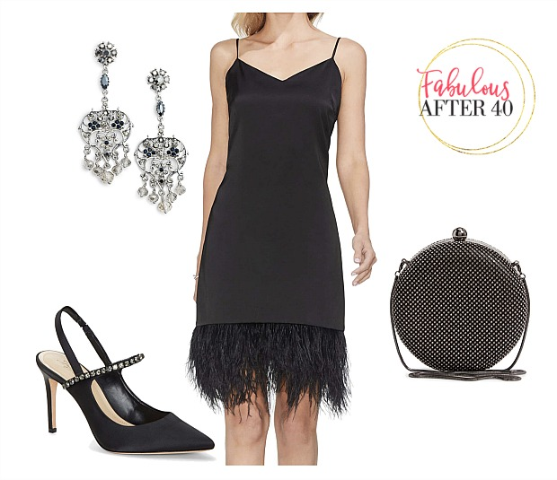 Little black dress - Feather Hem