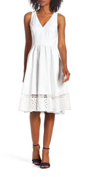 127c909b4c76 Here s a cute summer dress that will make you feel pretty and feminine.  This embroidered eyelet