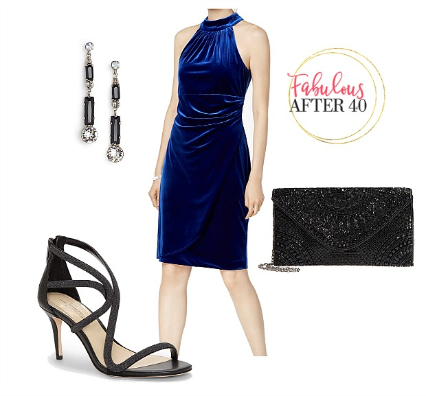 Holiday Party - Royal Blue velvet
