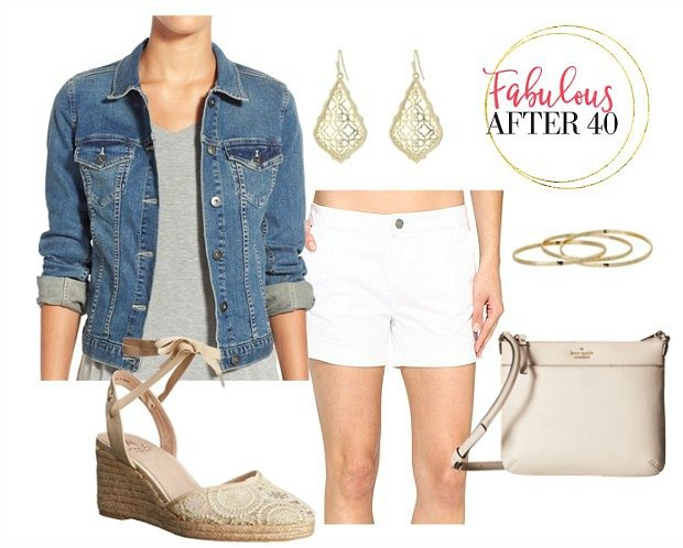 White-Shorts-Denim-Jacket