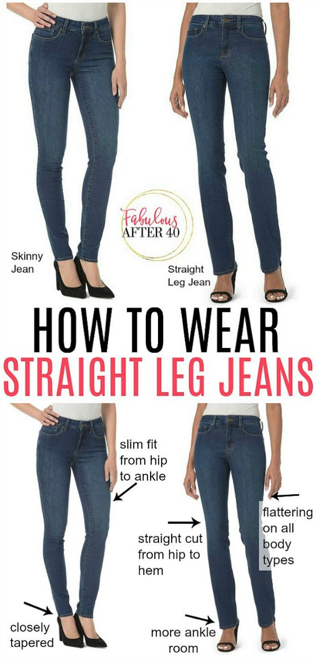 How to Wear Straight Leg Jeans and Feel Good \u2013