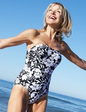 woman over 60 with skinny arms
