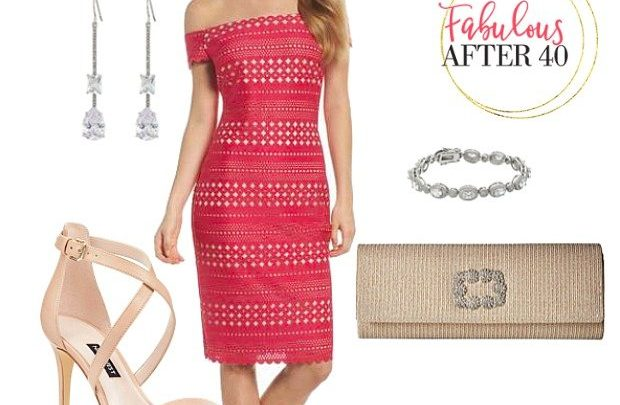 Vegas - Red Eyelit Dress