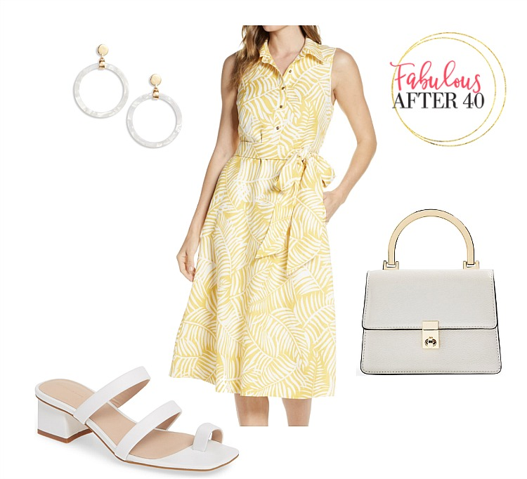 Shirtdresses - Yellow Print