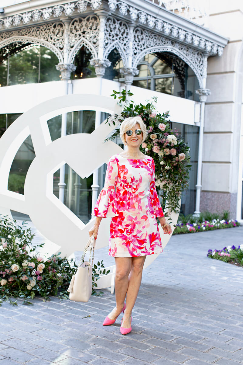 pink floral shift dress 3