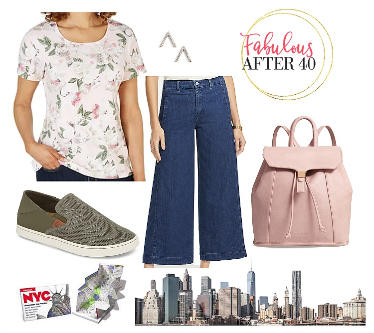 What to Wear in NYC - Floral Top with Culottes