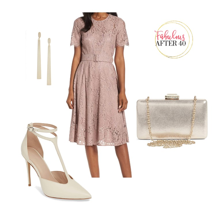 Wedding Guest - Dusty Pink With Lace