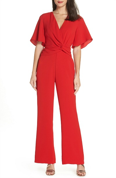 red chrismas party jumpsuit