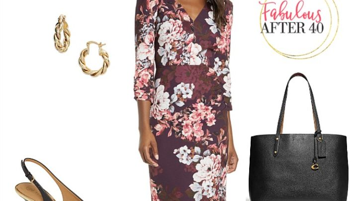 MOG - Plum Floral Dress
