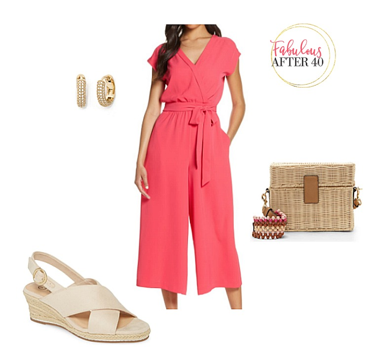 Bridal Shower guest outfit- Coral Jumpsuit