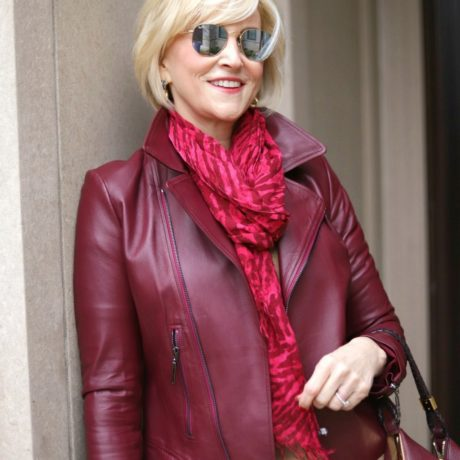 What to Wear With A Burgundy Leather Jacket