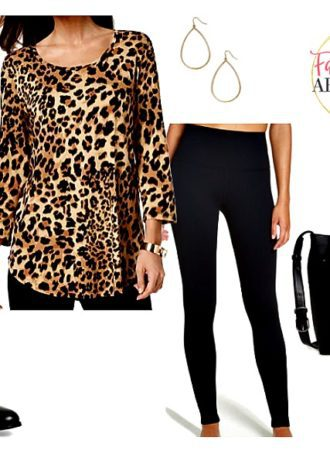 Long Tops for Leggings - leopard top top