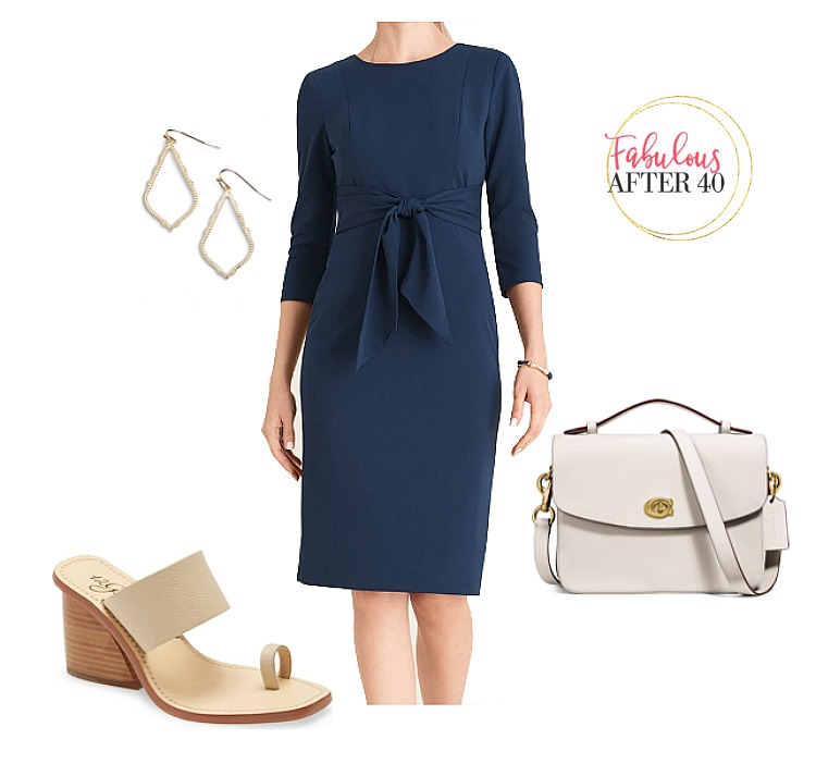 Mother of the Graduate Blue Front Tie Dress