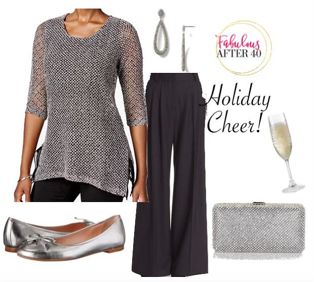 holiday party look-Wide-Leg-Pants-