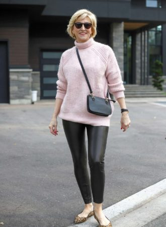 spanx faux leather leggings sweatercoat